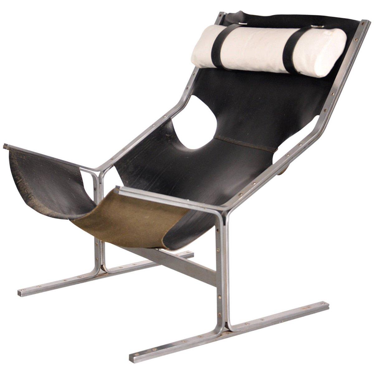 Niederländischer Lederstuhl von Pierre Thielen, 1960er