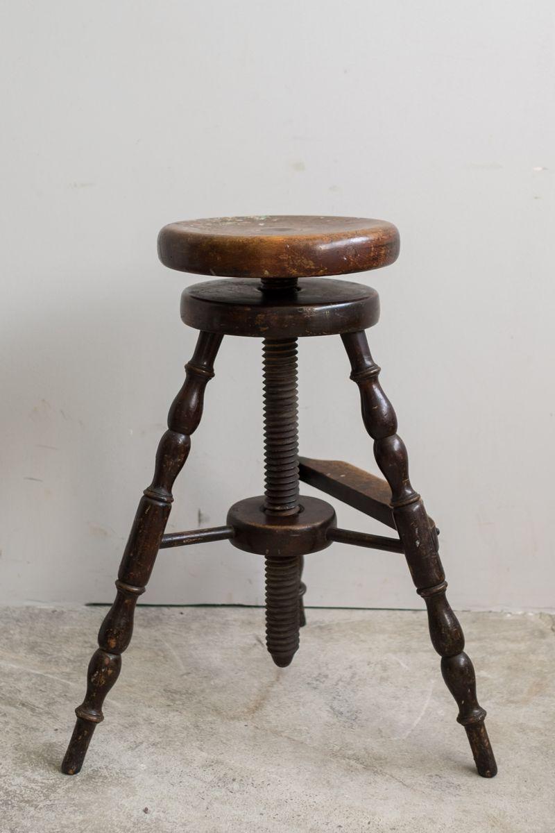 tabouret usine avec repose pied 1880s en vente sur pamono. Black Bedroom Furniture Sets. Home Design Ideas