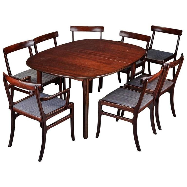 Rungstedlund Esstisch mit Acht Stühlen von Ole Wanscher für Poul Jeppe...