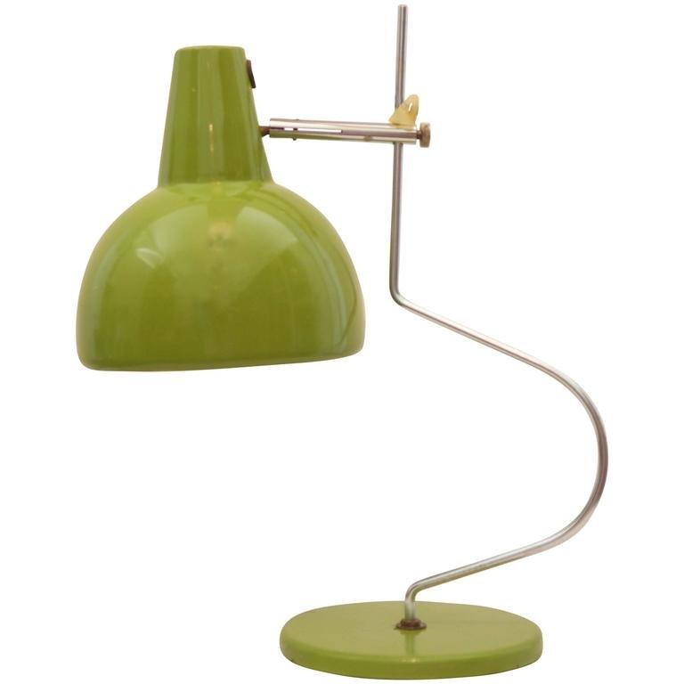 Grüne Mid-Century Tischlampe von Josef Hurka, 1960er