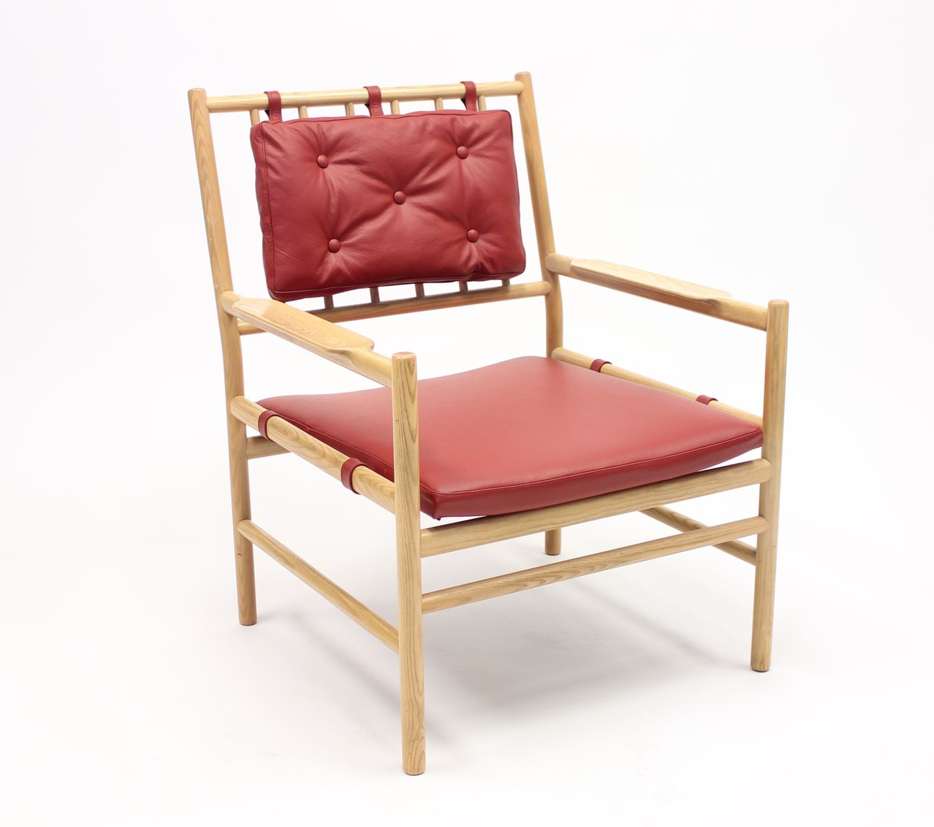 Image of: Safari Style Furniture With Scandinavian Safari Style Peter Easy Chair In Oak u0026 Leather By Arne Norell 1970s
