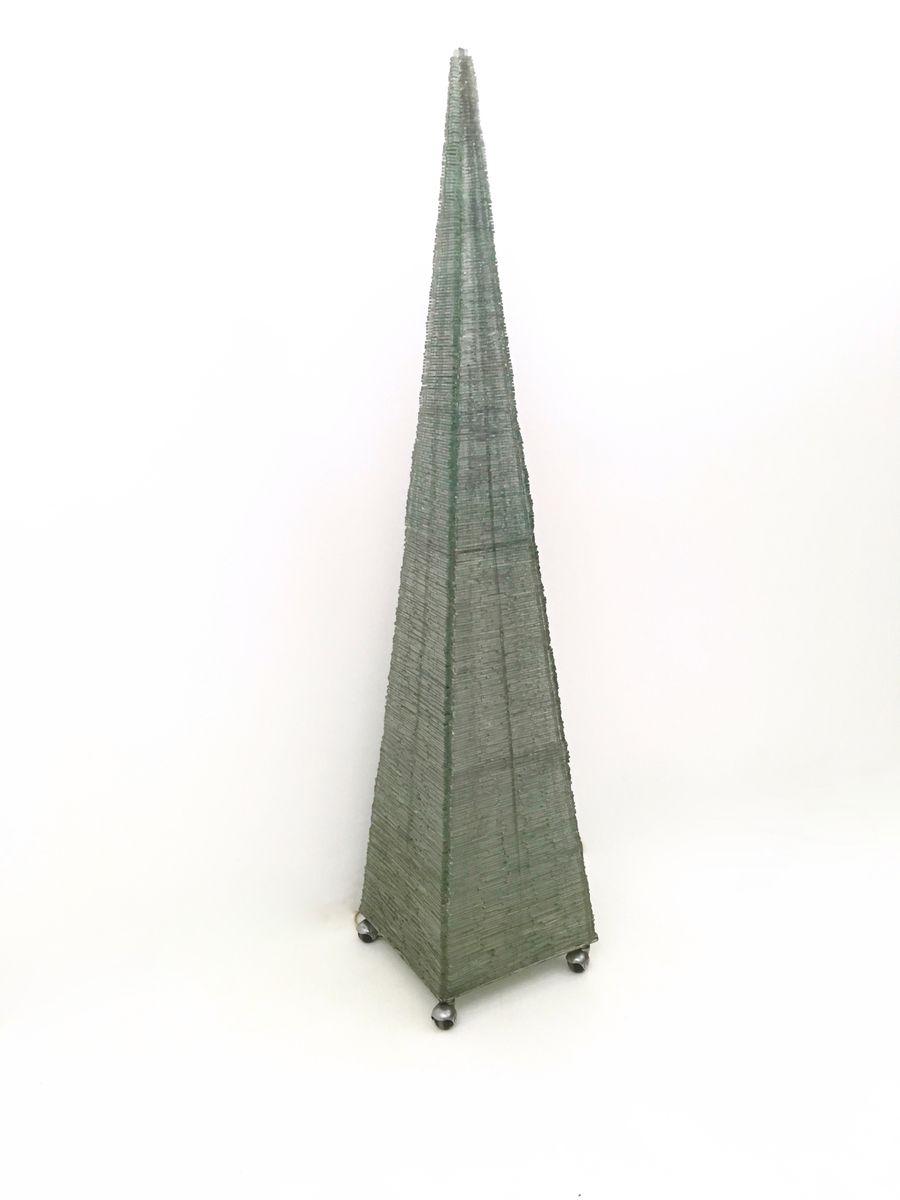 Vintage Pyramiden Stehlampe, 1980er