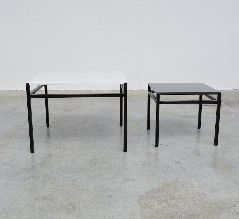 Tavolini Neri : Tavolini minimalisti bianchi e neri anni set di in