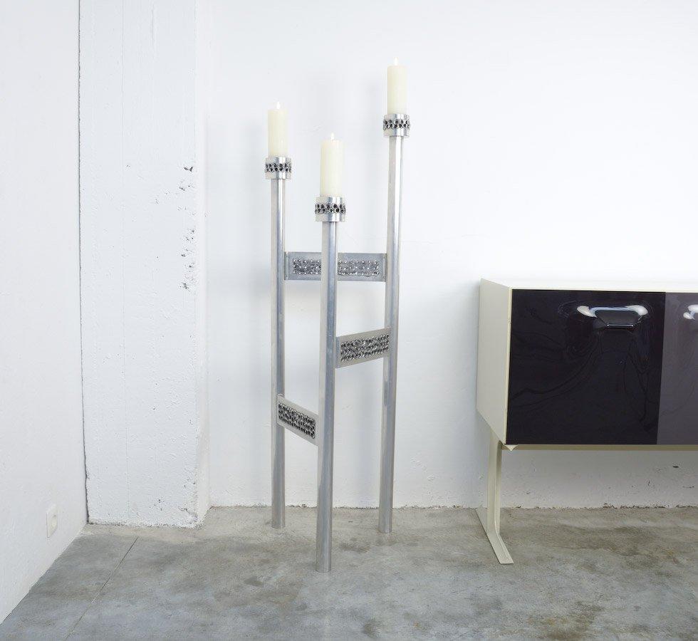 Brutalistischer Aluminium Kerzenständer von Aluclair