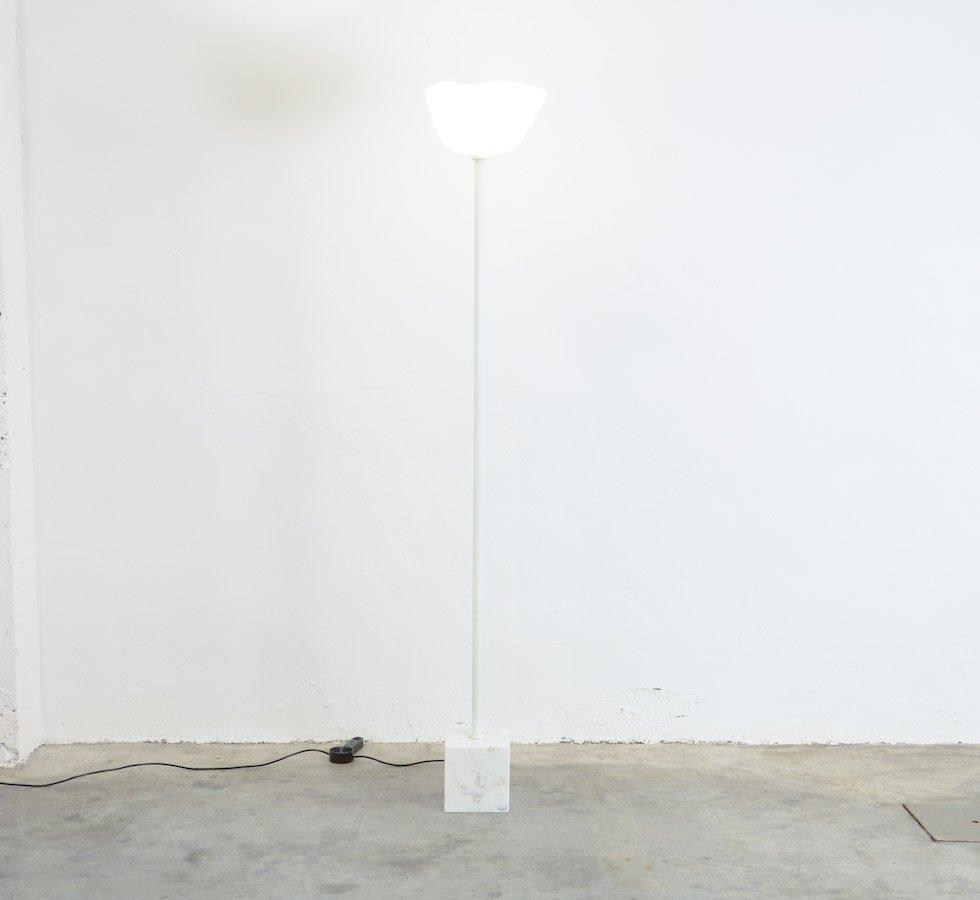 Weiße Murano Glas Stehlampe, 1970er