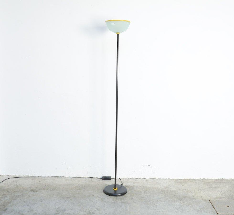Italienische Deckenfluter Stehlampe aus Metall