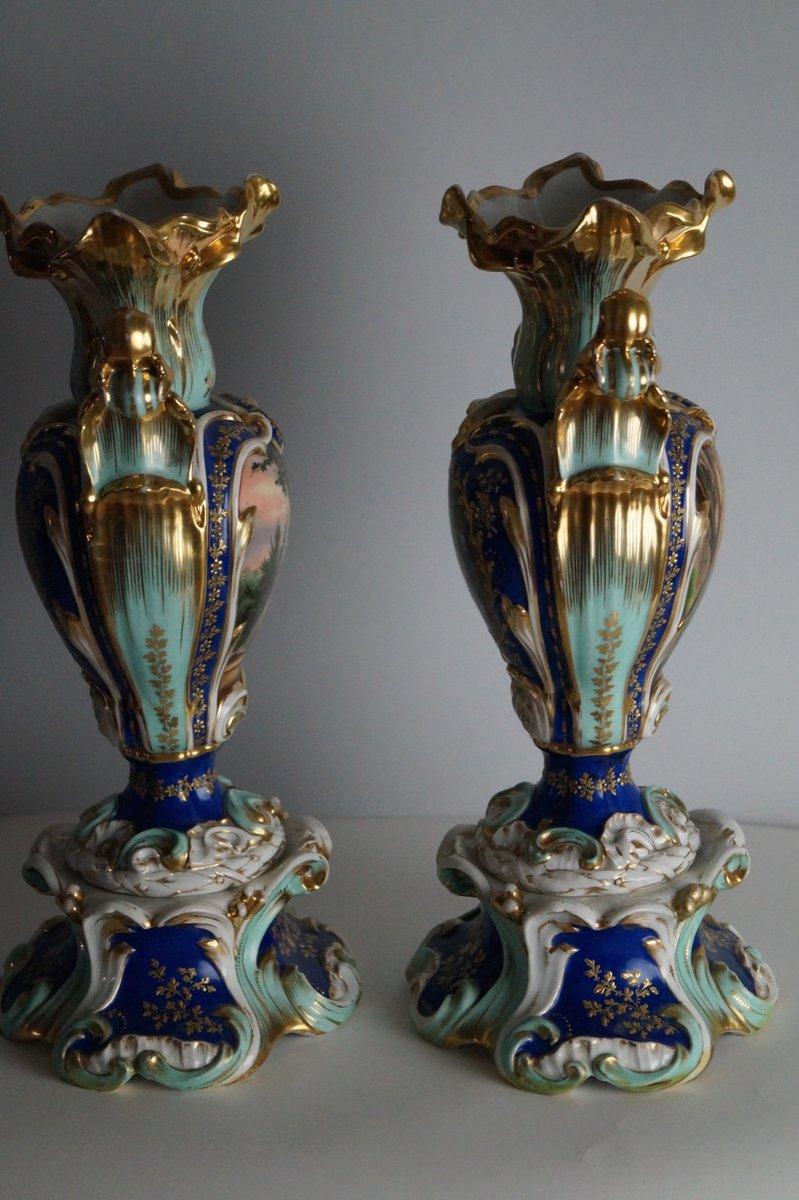 Vasi antichi dipinti a mano met xix secolo set di 2 in for Vasi antichi