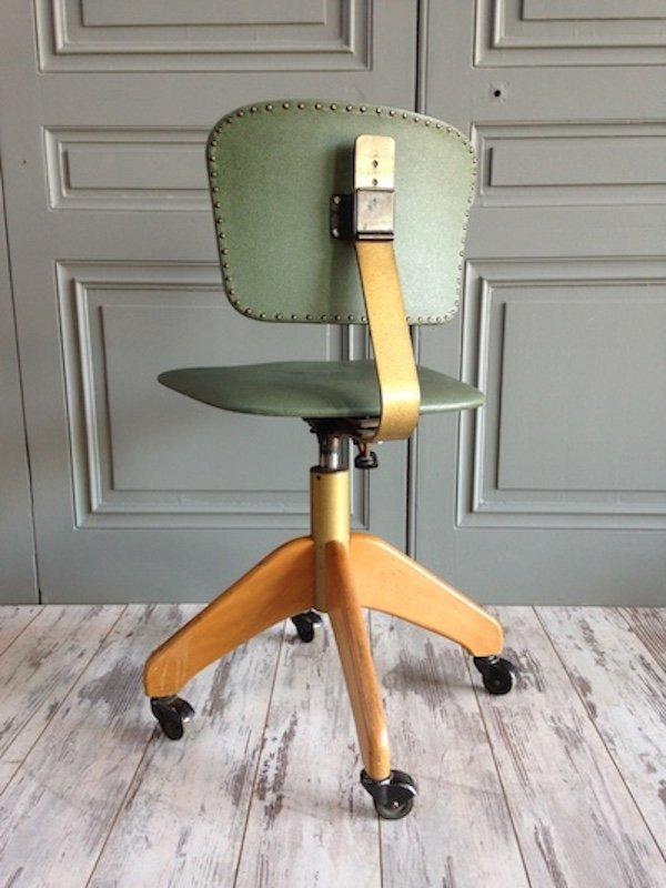 b rostuhl aus kunstleder von stoll 1960er bei pamono kaufen. Black Bedroom Furniture Sets. Home Design Ideas