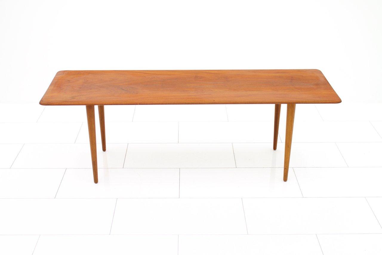 Minimalist Teak Sofa Table By Peter Hvidt Orla Molgaard Nielsen For France Son 1950s