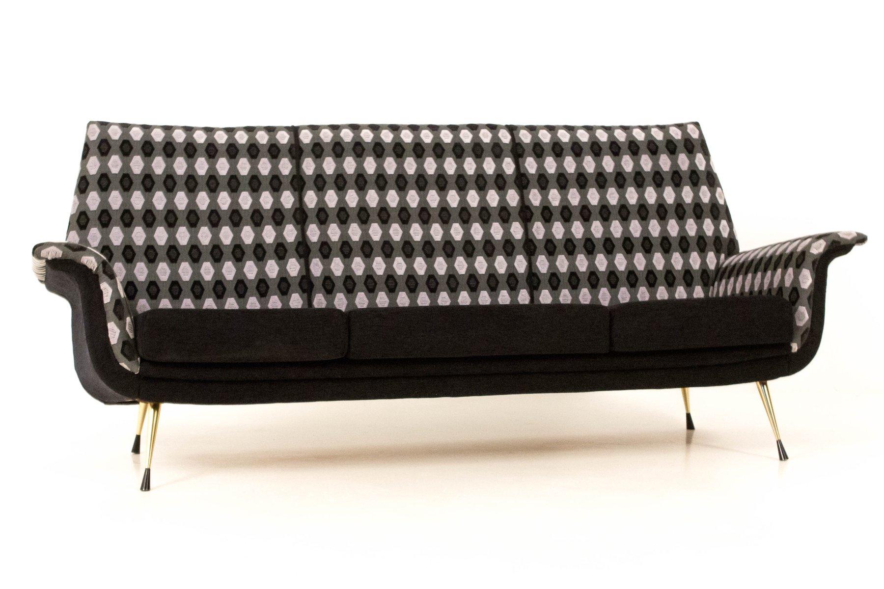 Italienisches Mid-Century Muster Sofa, 1960er