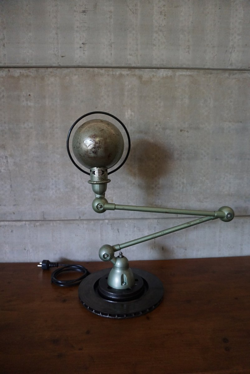 Lampe de bureau articul e industrielle verte de jield 1950s en vente sur pamono - Lampe bureau industrielle ...