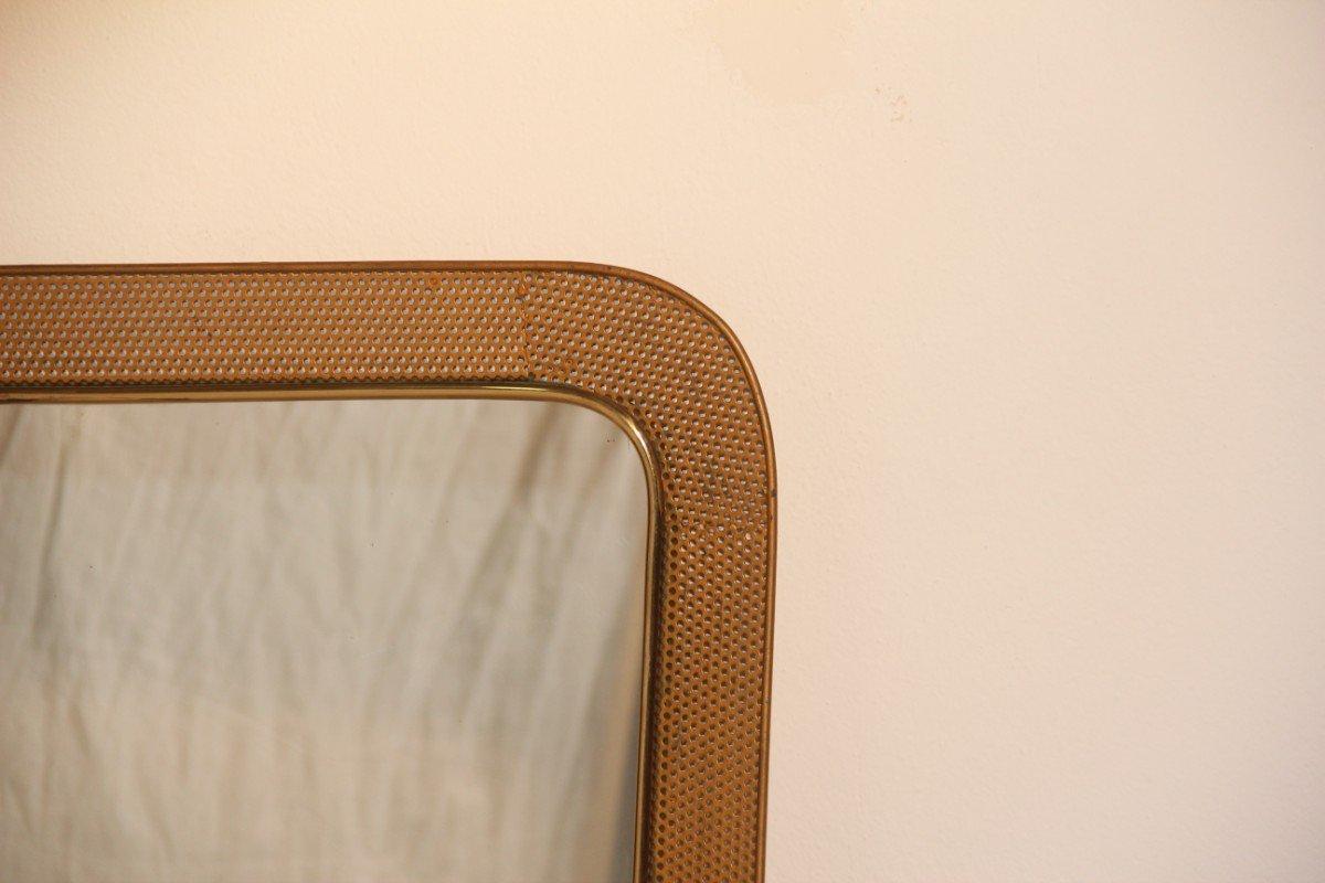 Specchio con cornice in metallo traforato francia 1950 in vendita su pamono - Specchio con cornice ...
