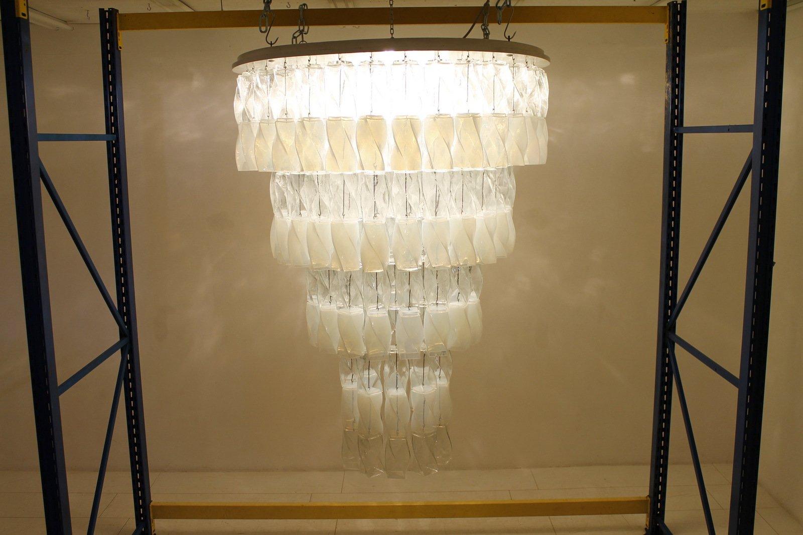 Großer Soffio Murano Glas Kronleuchter von Roberto Pamio & Renato Toso...