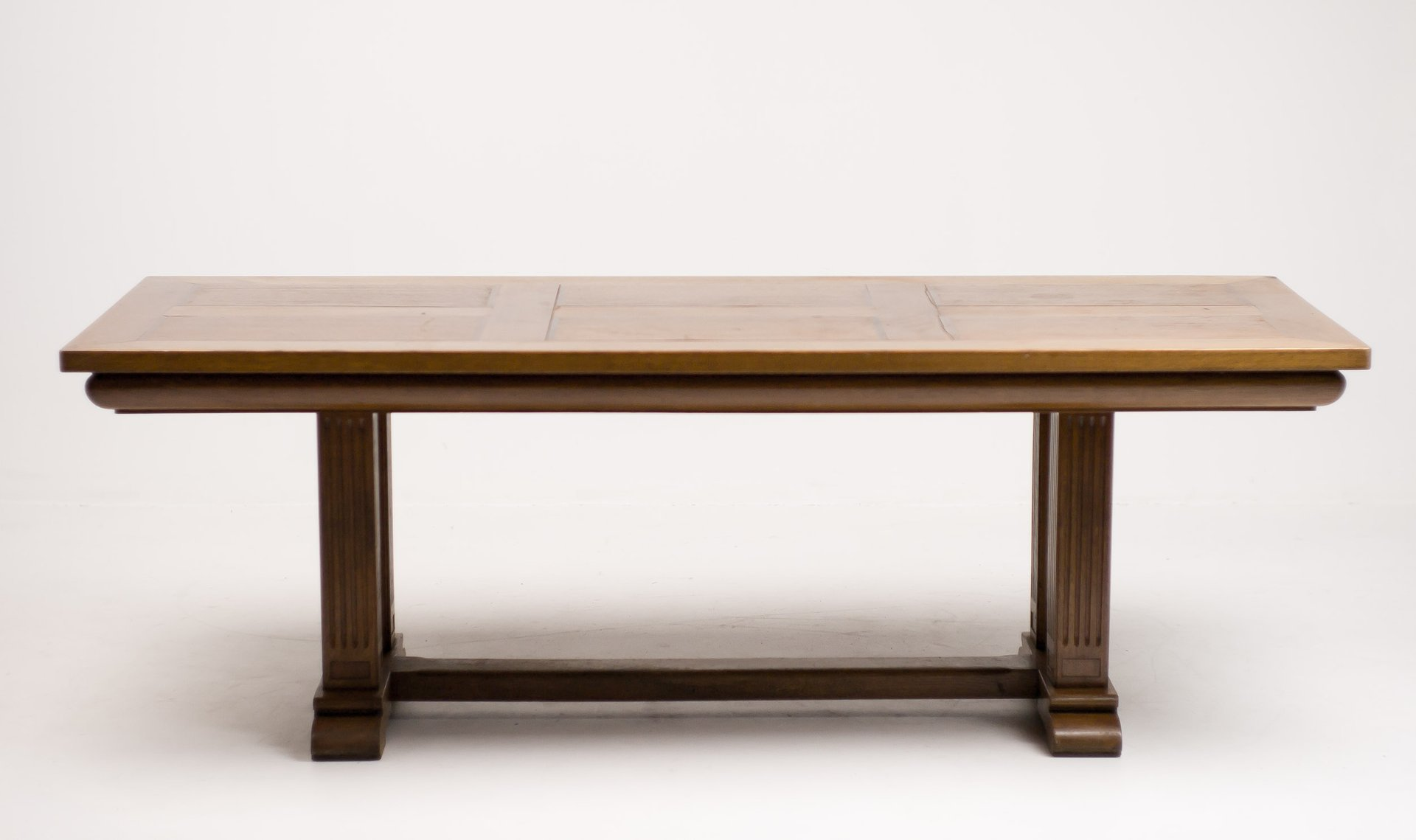 Architectural Oak Dining Table 1920s