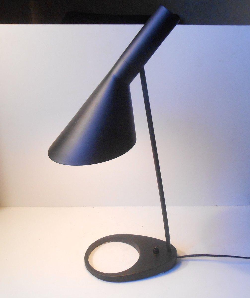 Schwarze Vintage AJ Tischlampe von Arne Jacobsen für Louis Poulsen