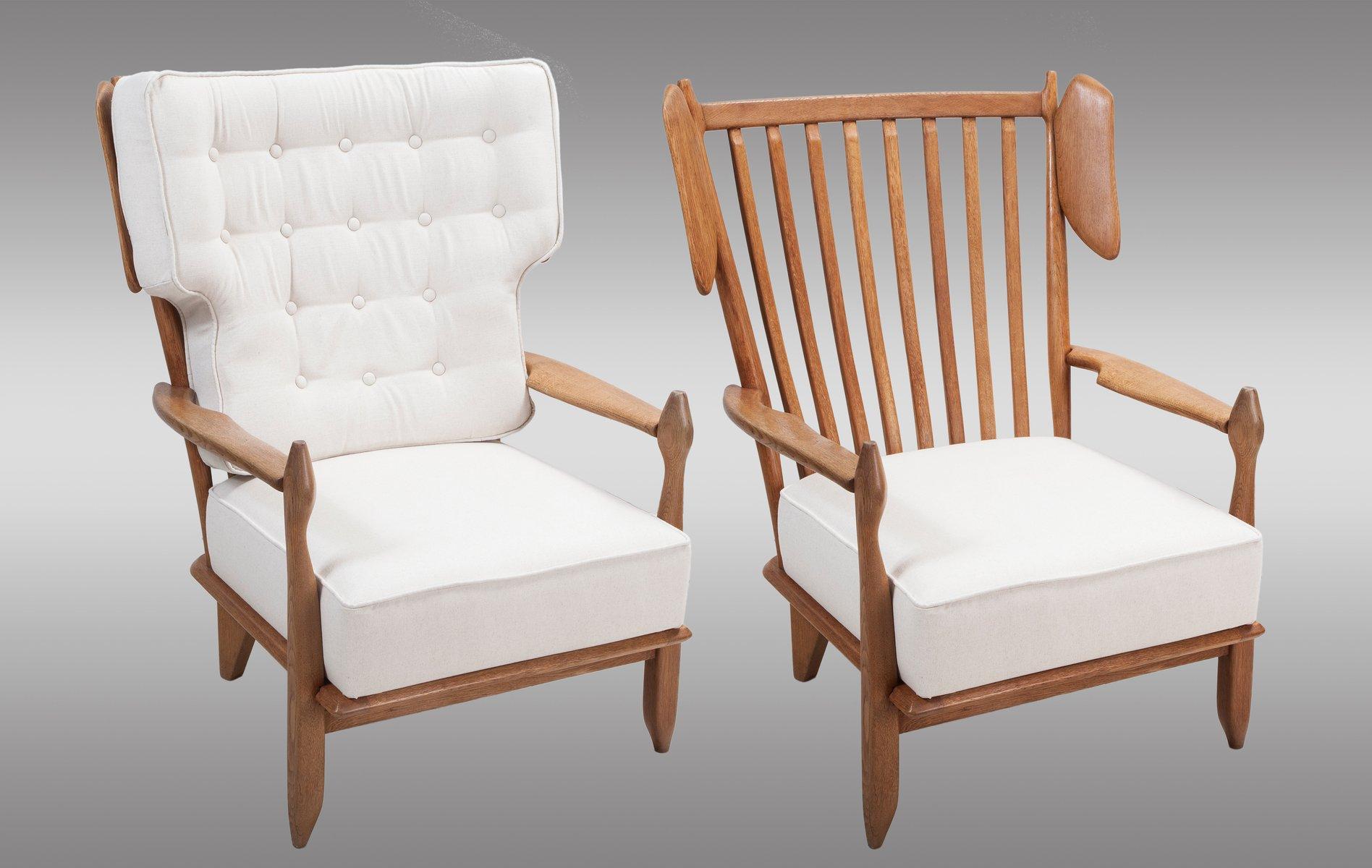 franz sischer stuhl aus massiver eiche mit hoher r ckenlehne von guillerme et chambron f r votre. Black Bedroom Furniture Sets. Home Design Ideas