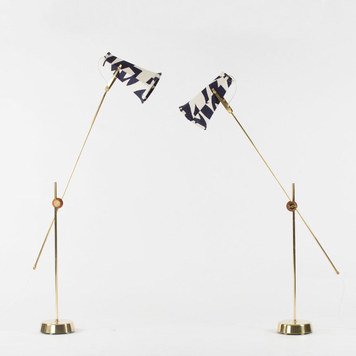 Schwedische Mid-Century Stehlampen von Hans Bergström für Ateljé Lykta...