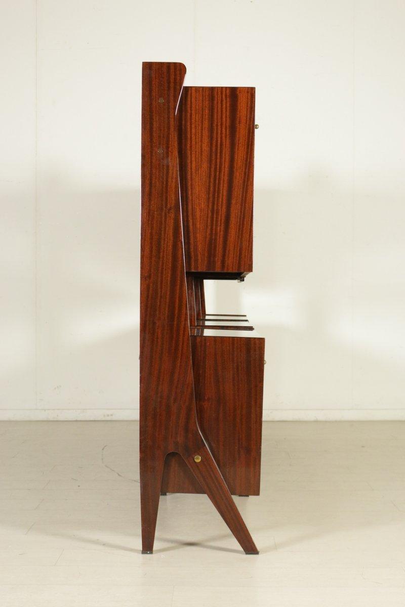 Ebonisierter italienischer schrank mit holzfurnier 1960er for Schrank italienischer stil