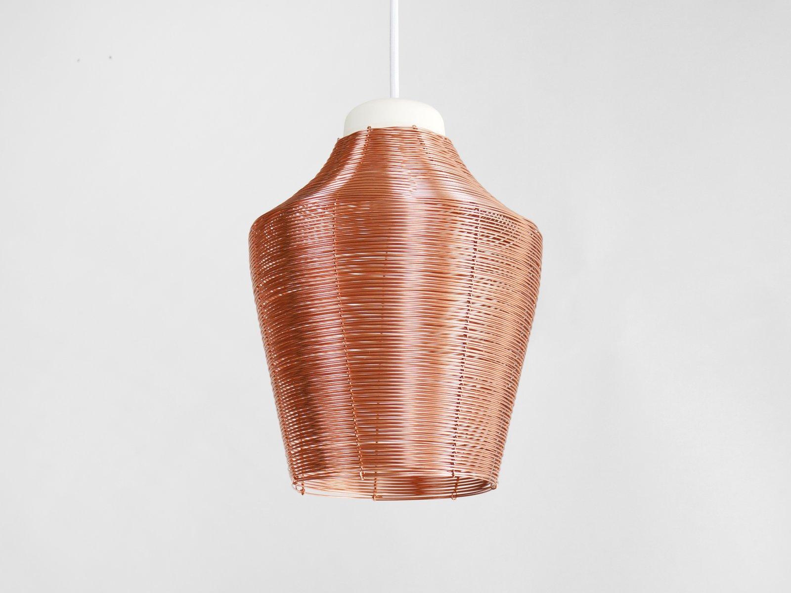 Lange Hängelampe aus Kupferdraht von Studio Laurier