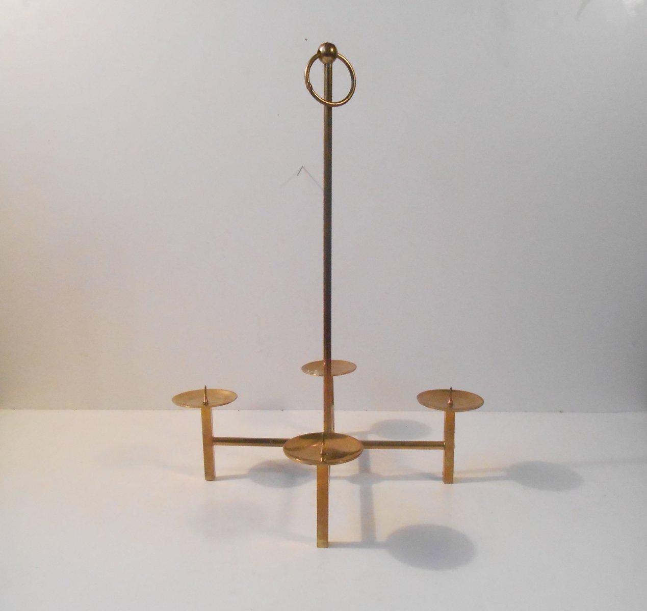 Kerzenhalter aus Messing von Hans Agne Jakobsson für Markaryd Sweden