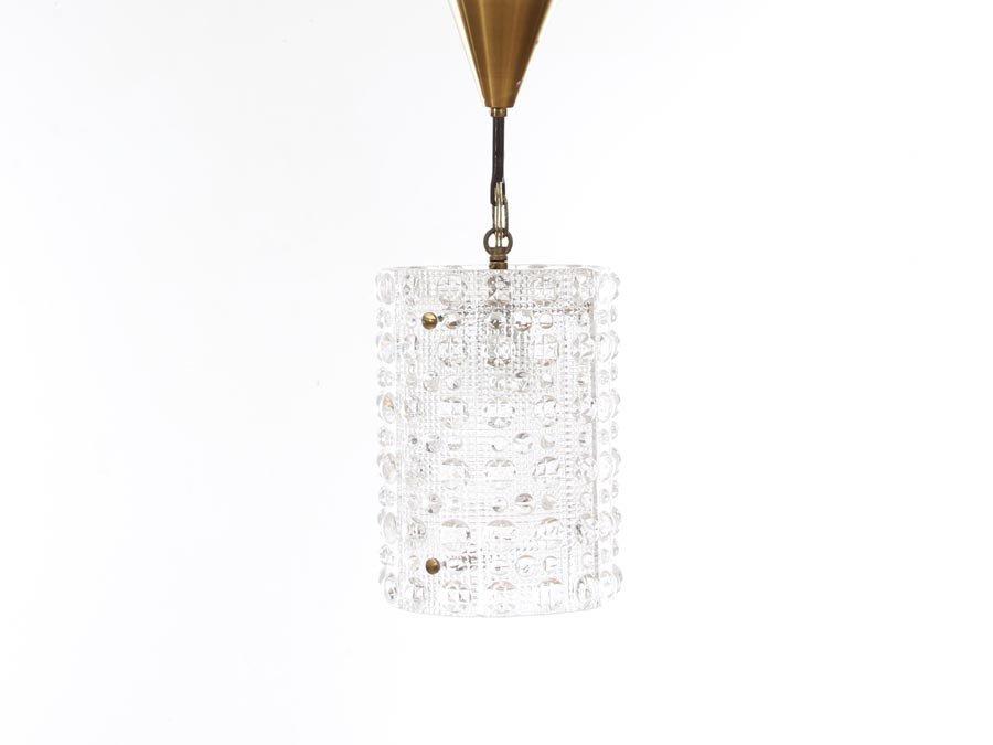 Schwedische Mid-Century Modern Kristall Hängelampe von Carl Fagerlund ...
