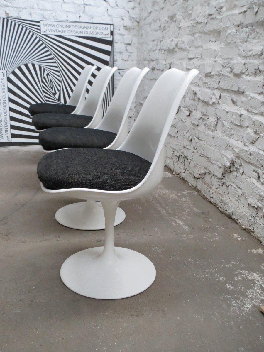 fest stehende st hle von eero saarinen f r knoll international 1980er 4er set bei pamono kaufen. Black Bedroom Furniture Sets. Home Design Ideas