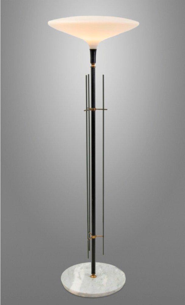 Vintage Stehlampe mit Dekorativen Stäben