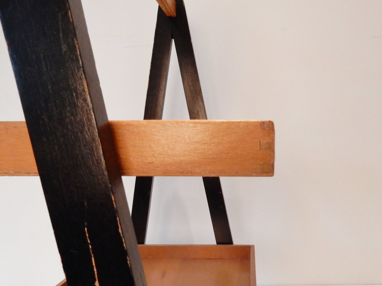 Vintage Dutch Foldable Magazine Rack Or Tray Table For