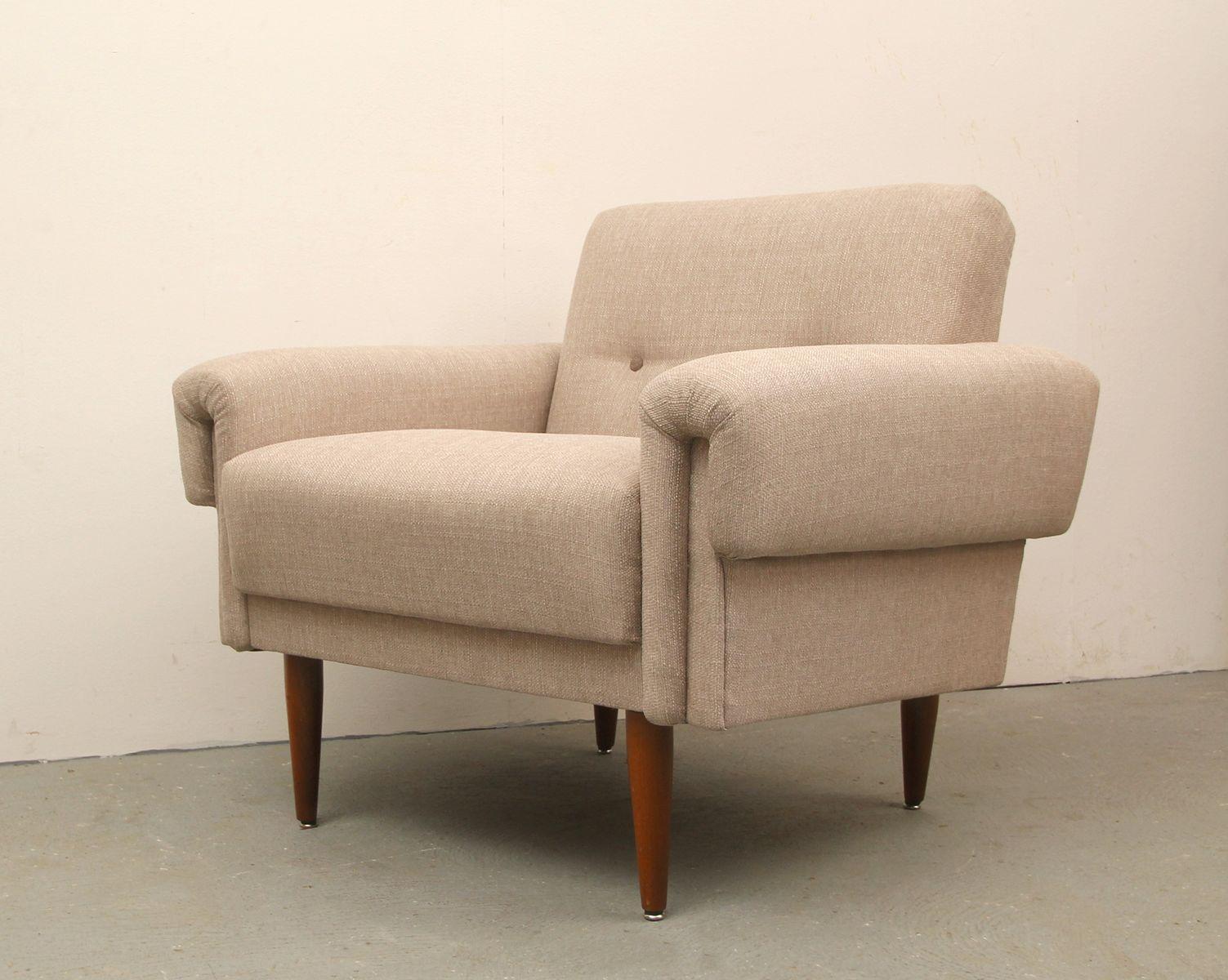 deutscher beiger sessel 1950er bei pamono kaufen. Black Bedroom Furniture Sets. Home Design Ideas