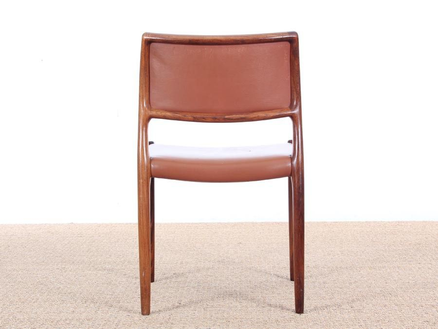 Mid Century Danish Rosewood Dining Chairs By Niels Møller, 1968, Set Of 6