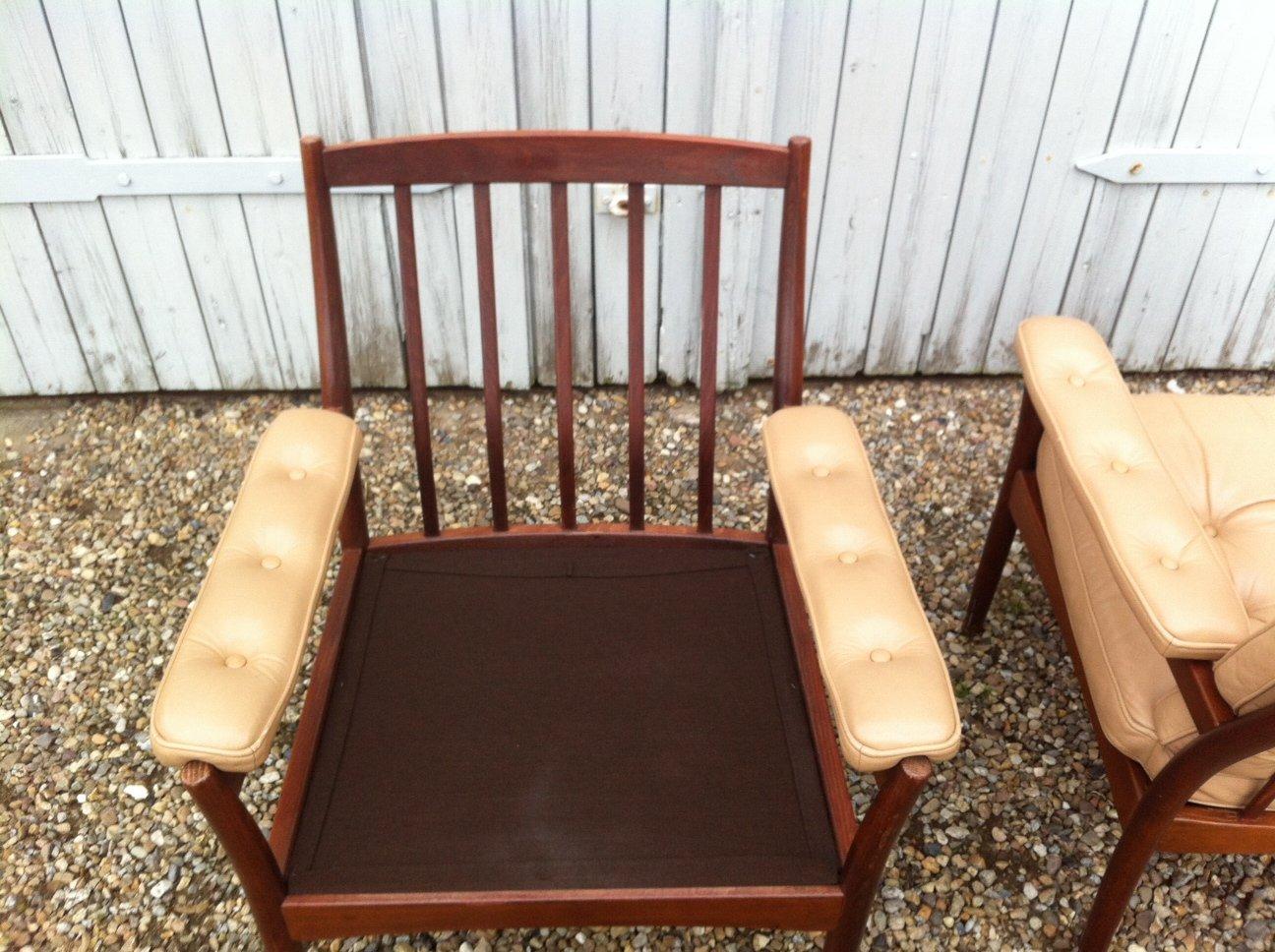 mid century leder polsterst hle von g m bel sweden 1970er 2er set bei pamono kaufen. Black Bedroom Furniture Sets. Home Design Ideas