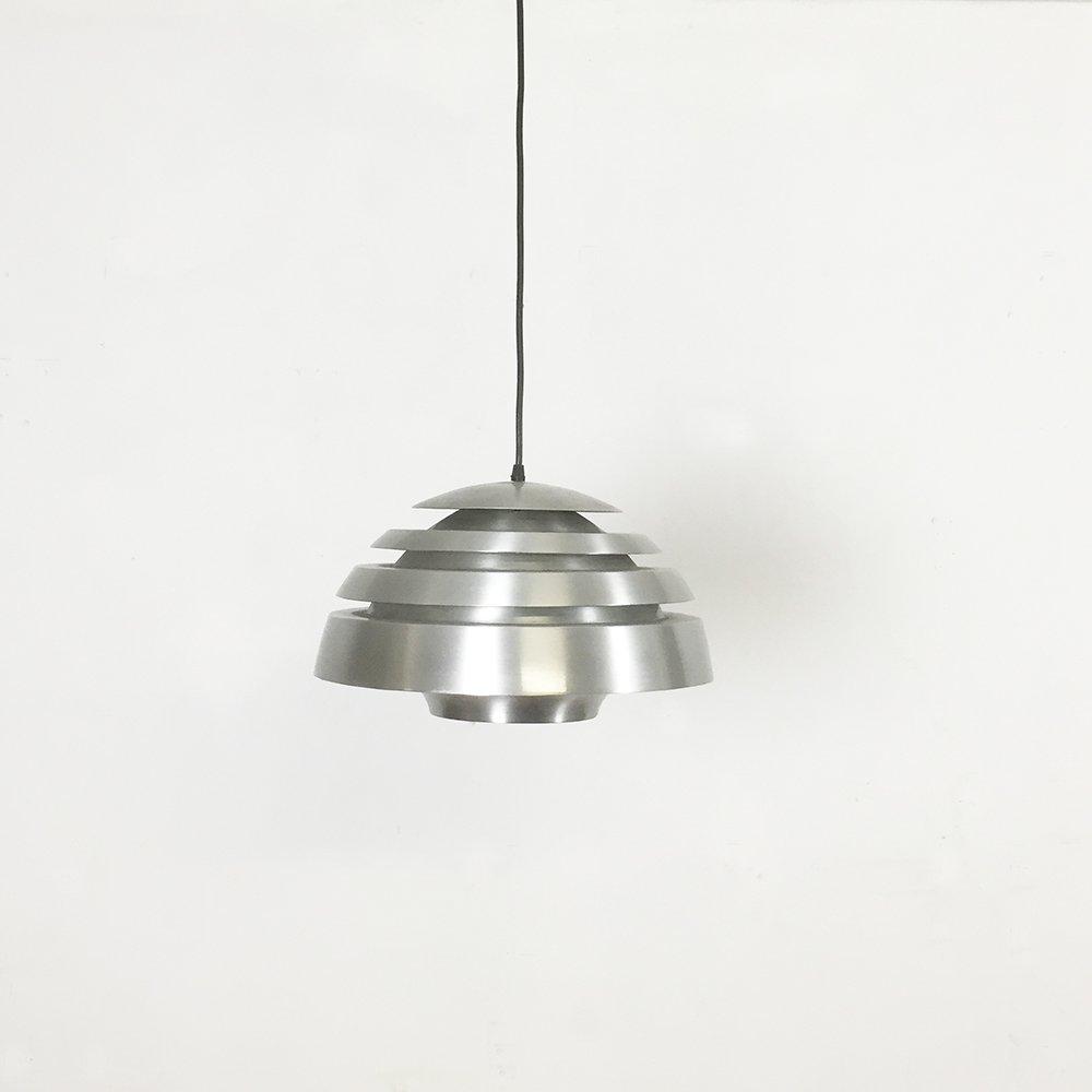 Modernistische Skandinavische Aluminium Hängelampe, 1960er