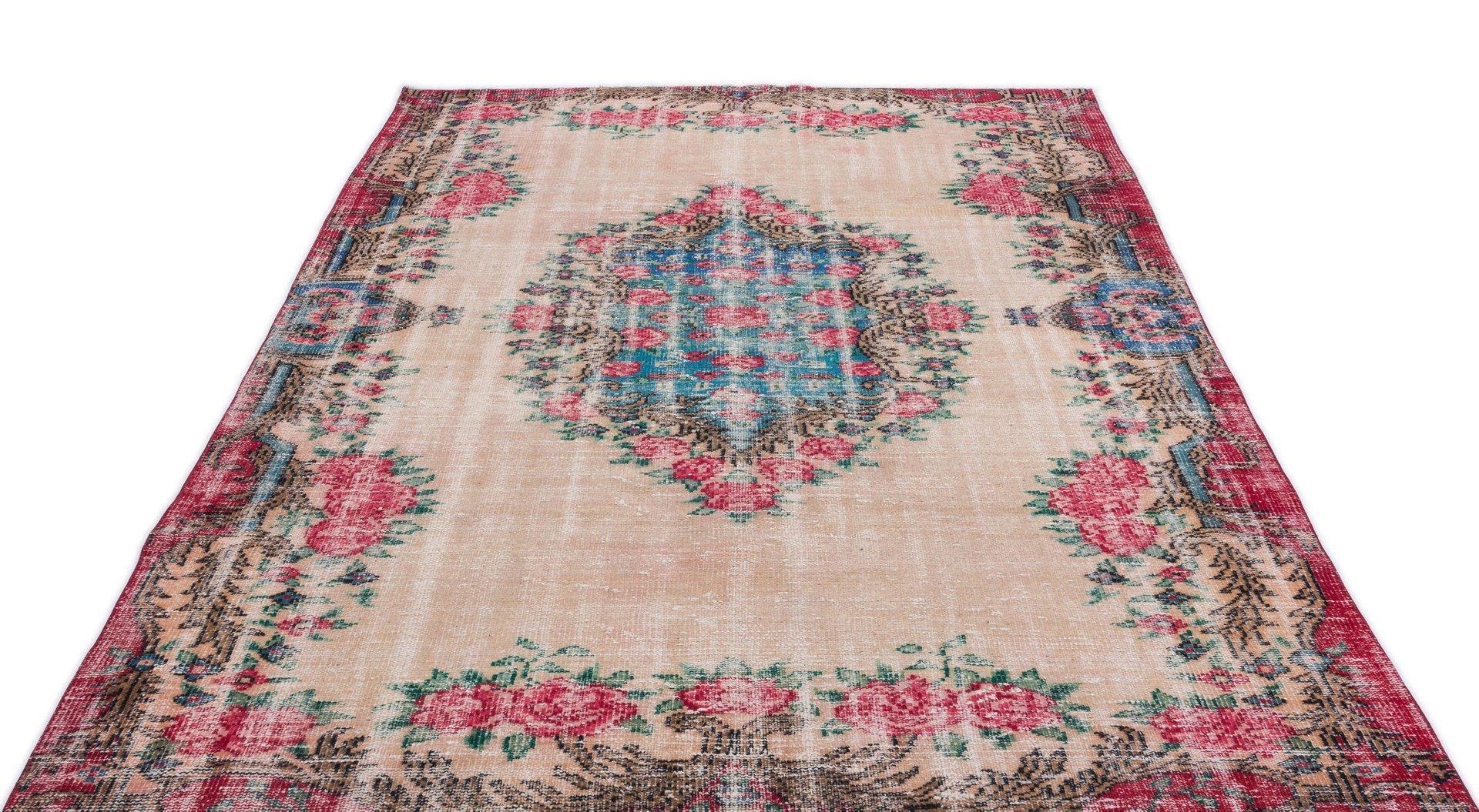 tapis vintage multicolore teint turquie 1960s en vente sur pamono. Black Bedroom Furniture Sets. Home Design Ideas