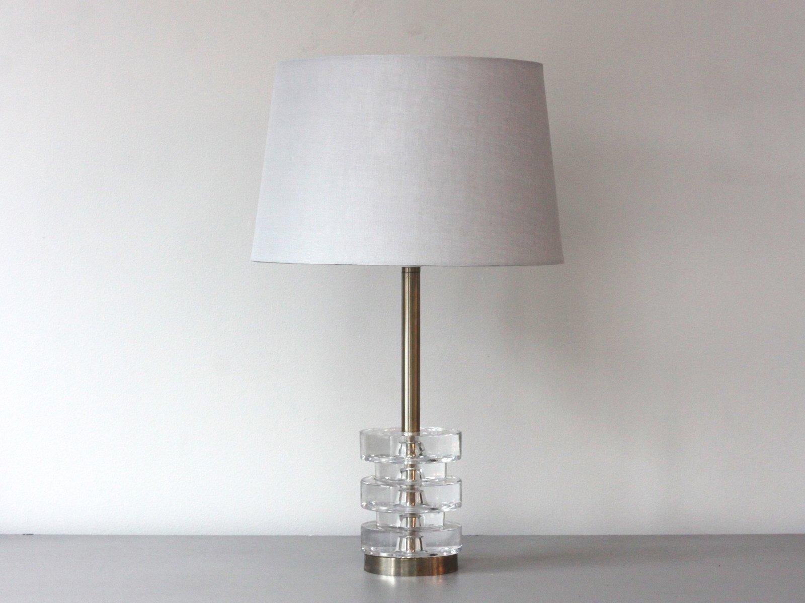 Schwedische Tischlampe von Carl Fagerlund für Orrefors
