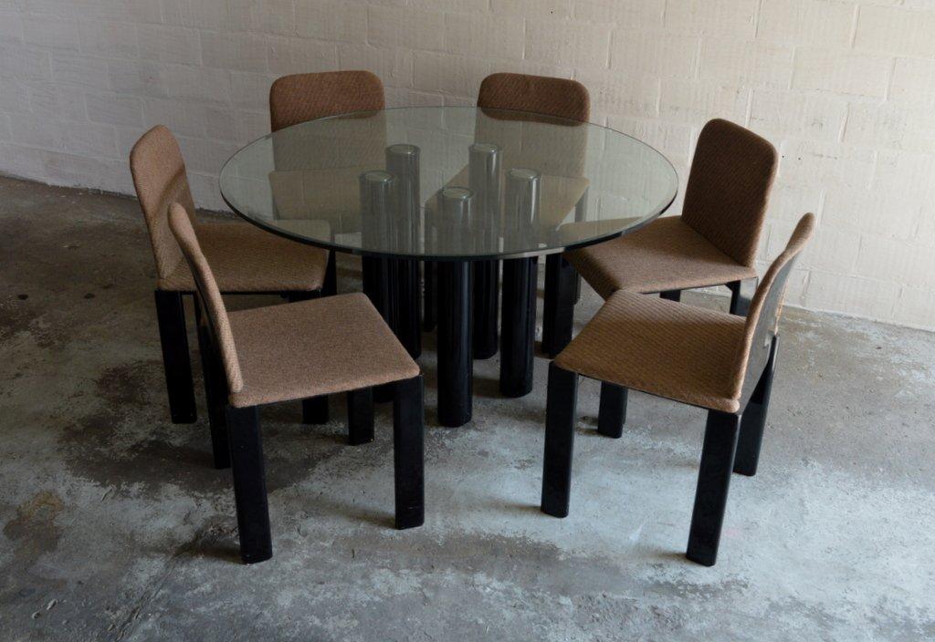 Esstisch mit Sechs Stühlen von Marco Zanuso für Zanotta, 1979
