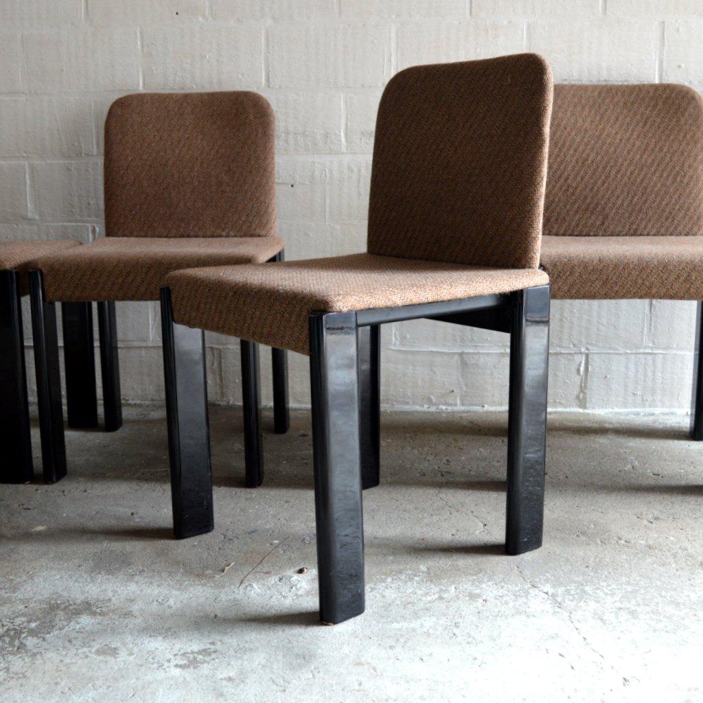 esstisch mit sechs st hlen von marco zanuso f r zanotta 1979 bei pamono kaufen. Black Bedroom Furniture Sets. Home Design Ideas