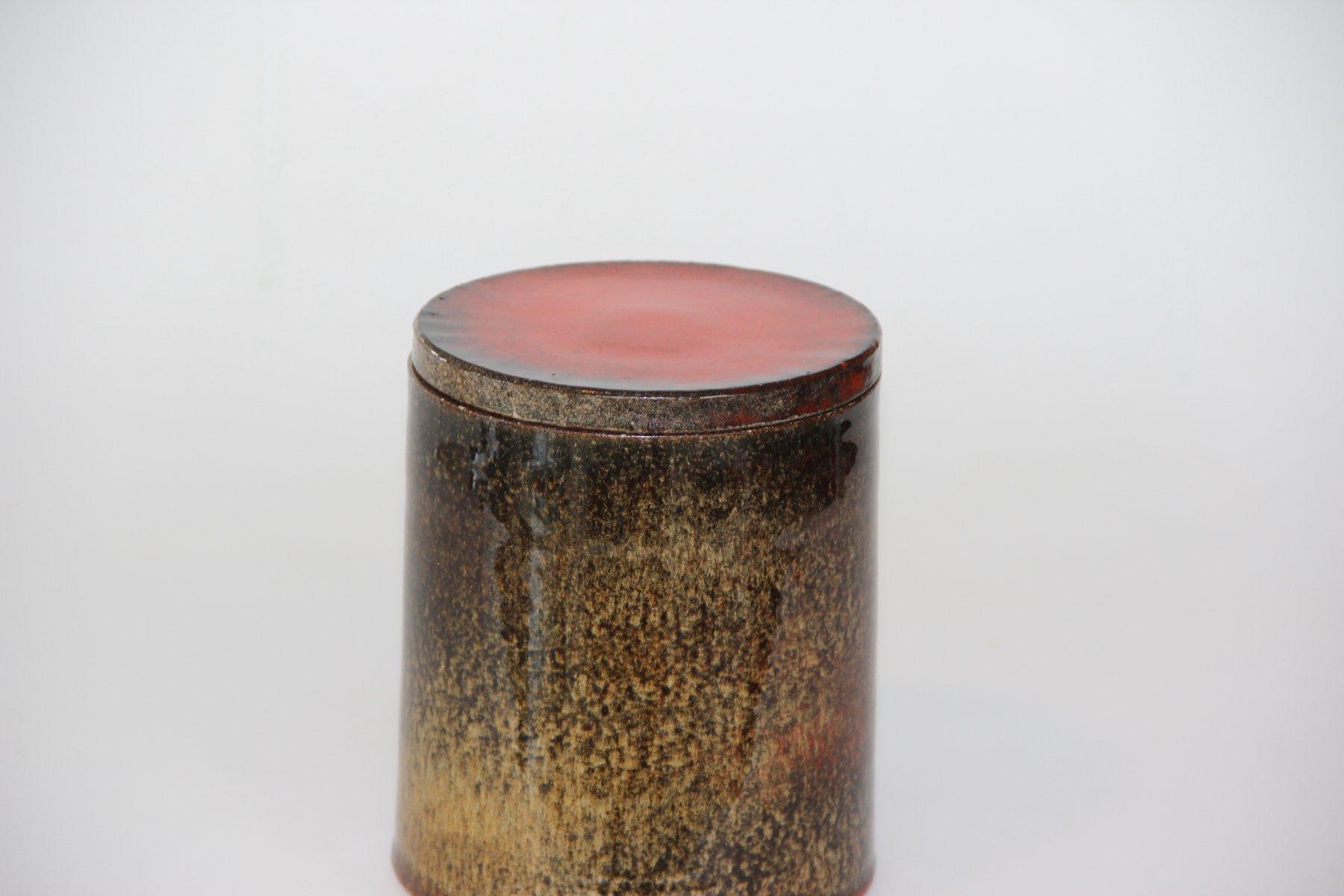 d nische vintage vase mit deckel von hermann k hler bei pamono kaufen. Black Bedroom Furniture Sets. Home Design Ideas