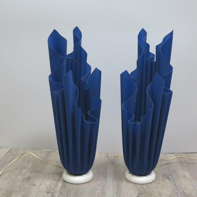 Blaue Athéna Tischlampen von Georgia Jacob, 1970, 2er Set