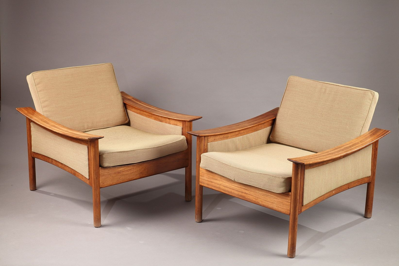 Teakholz Sessel von Oskar Langlo für P. I. Langlos Fabrikker A/S, 1950...