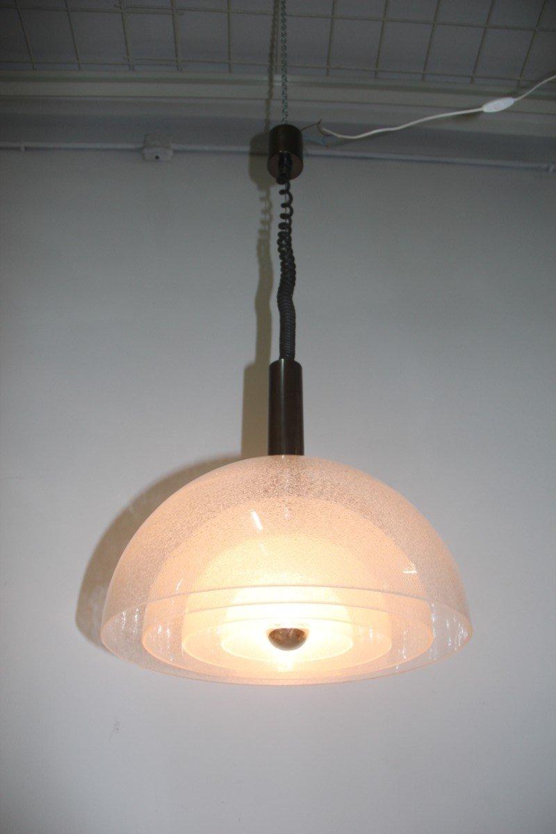 Italienische Popart Pulegoso Deckenlampe von Carlo Nason für Mazzega, ...