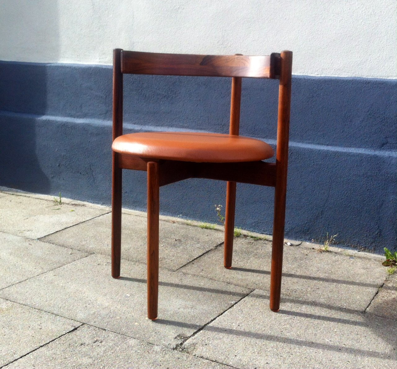 Danish Rosewood U0026 Tan Leather Armchair By Hugo Frandsen For Børge M.  Søndergaard, 1960s