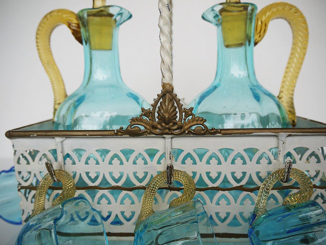 antikes franz sisches cabaret lik rservice aus handgeblasenem glas von legras 1890er bei pamono. Black Bedroom Furniture Sets. Home Design Ideas