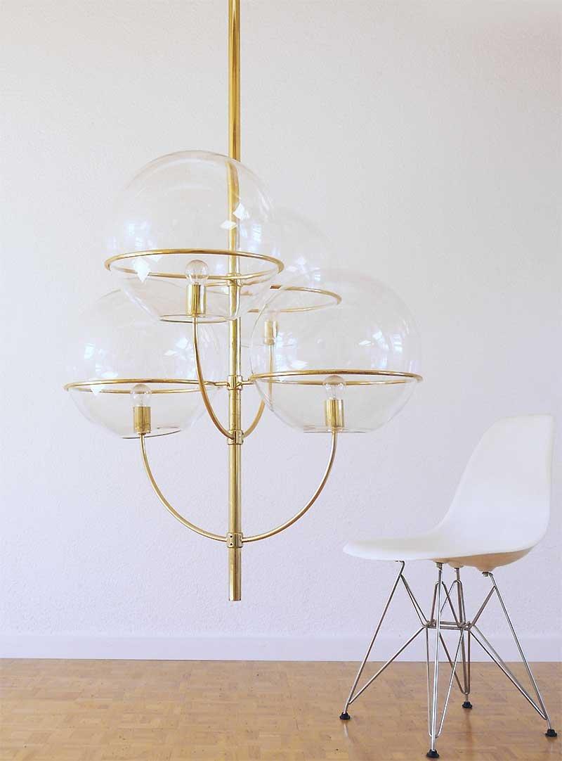Große Italienische Lyndon Deckenlampe von Vico Magistretti für Oluce, ...