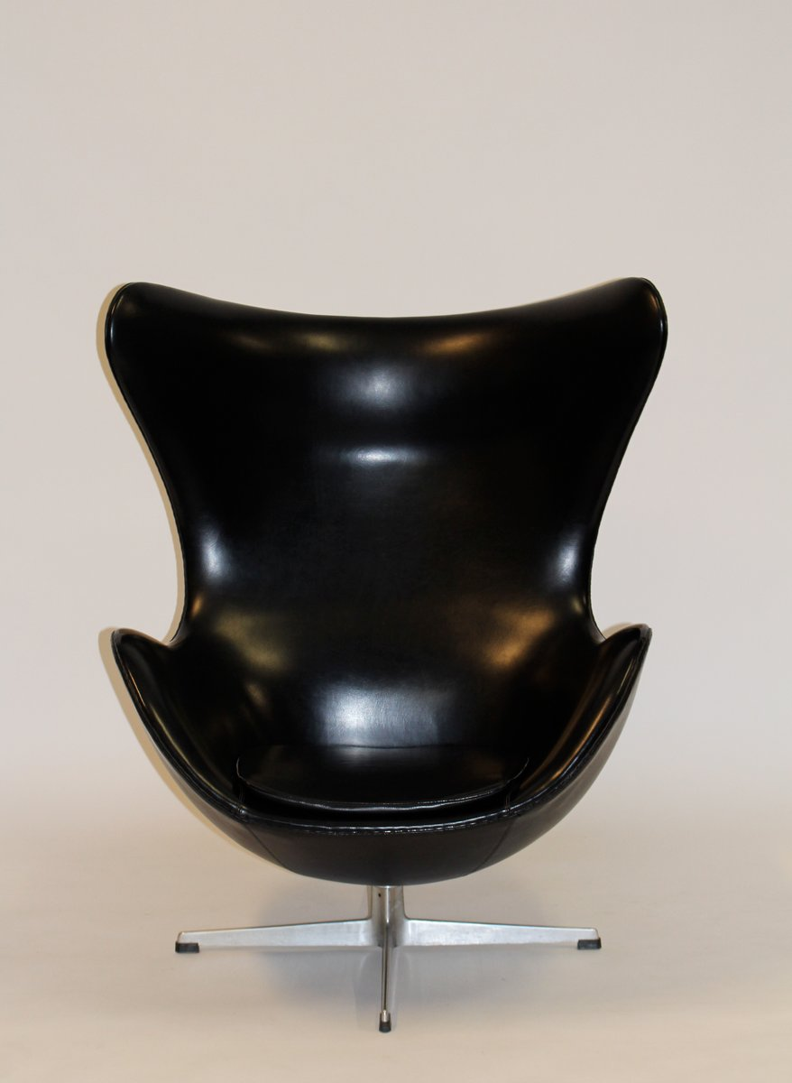 vinyl egg stuhl von arne jacobsen f r fritz hansen 1961. Black Bedroom Furniture Sets. Home Design Ideas