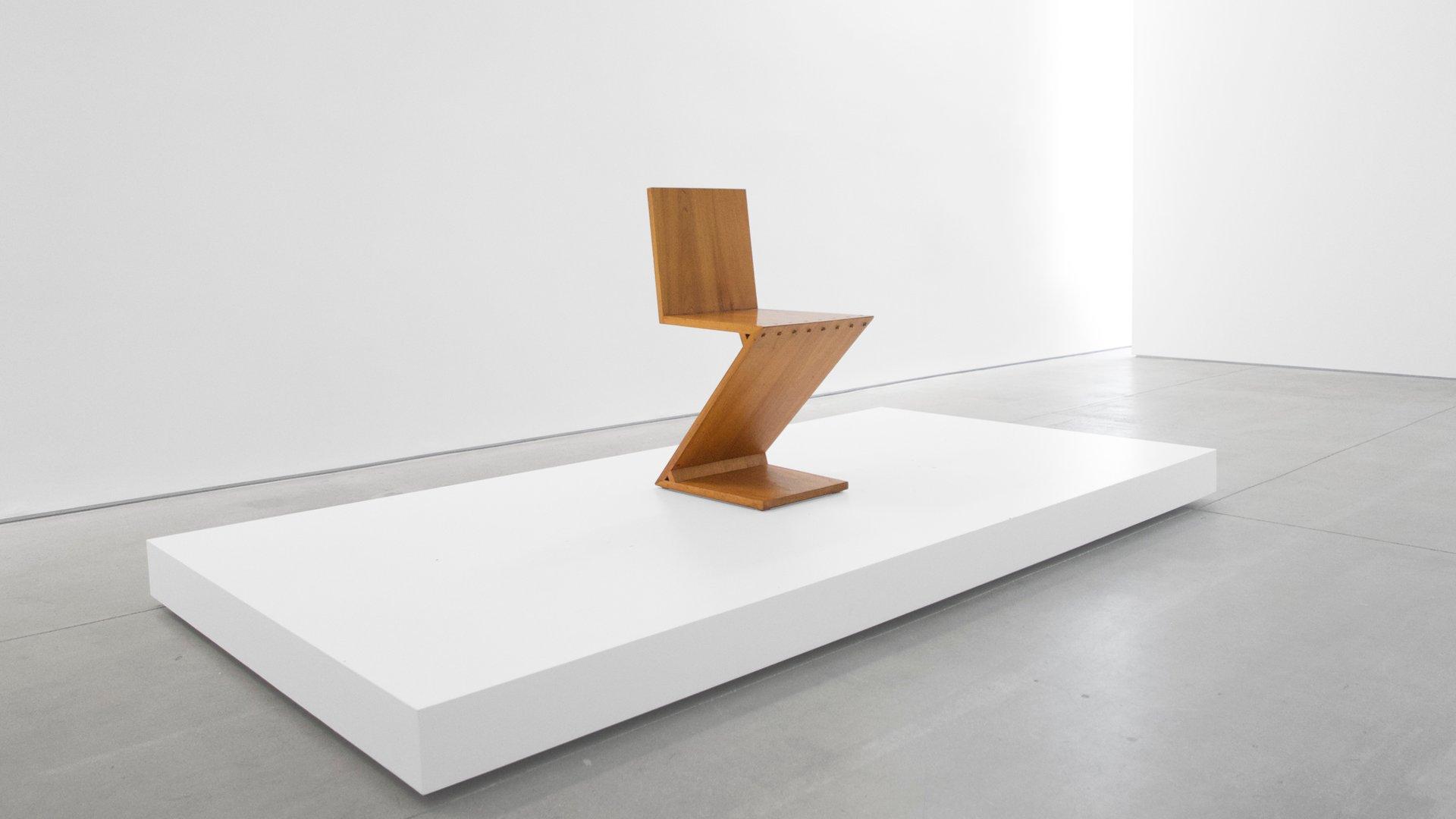 Sedia Zig Zag di Gerrit Rietveld, 1969 in vendita su Pamono