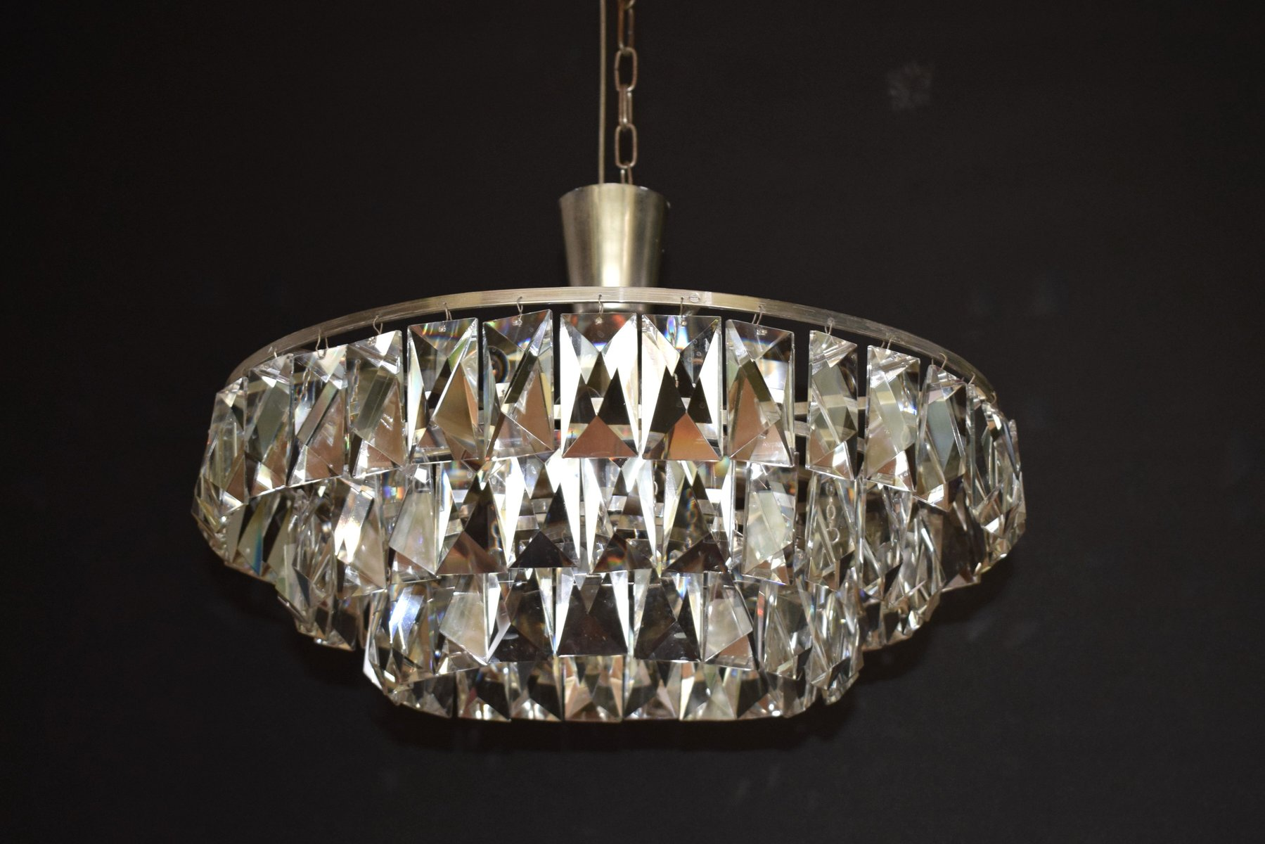 Austrian large crystal chandelier from bakalowits sohne 1960s for price per piece aloadofball Image collections