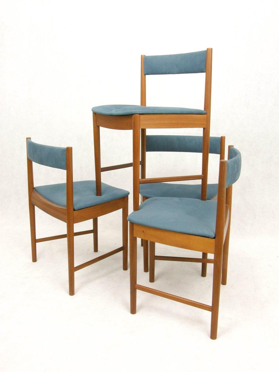 britische esszimmerst hle von mcintosh 1960er 4er set bei pamono kaufen. Black Bedroom Furniture Sets. Home Design Ideas
