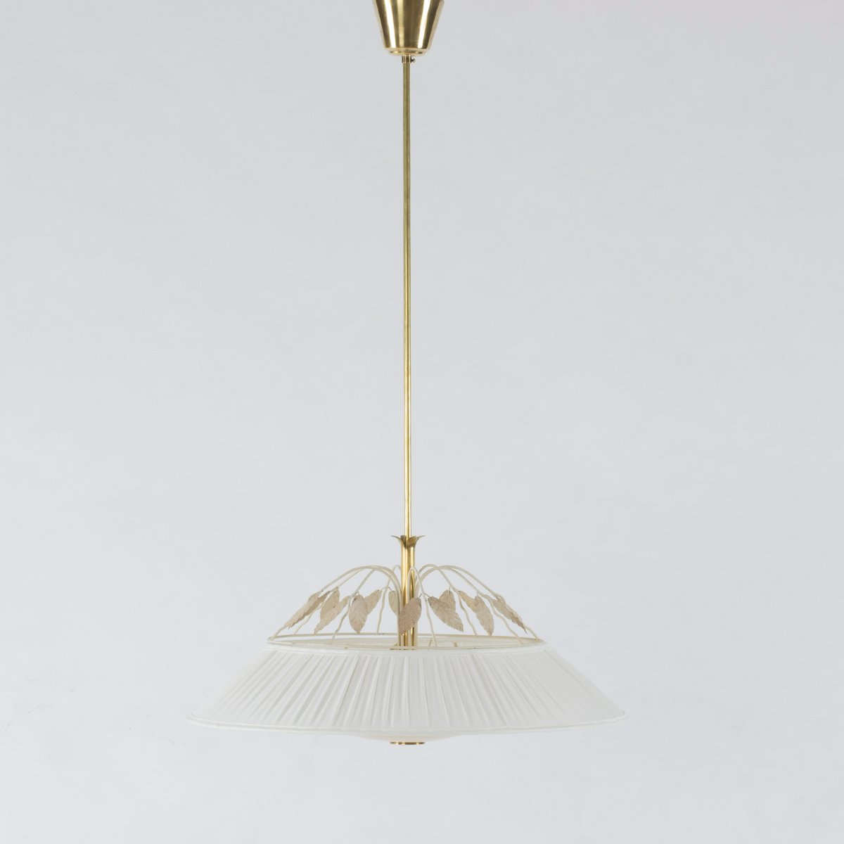 Lackierte Metall Deckenlampe von Hans Bergström, 1950er