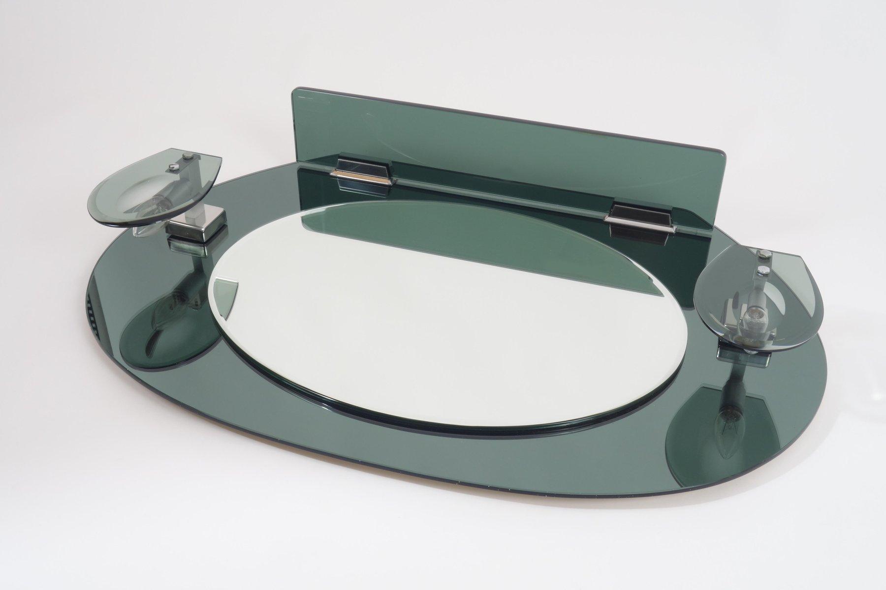 Specchio mid century con applique e consolle italia in vendita su