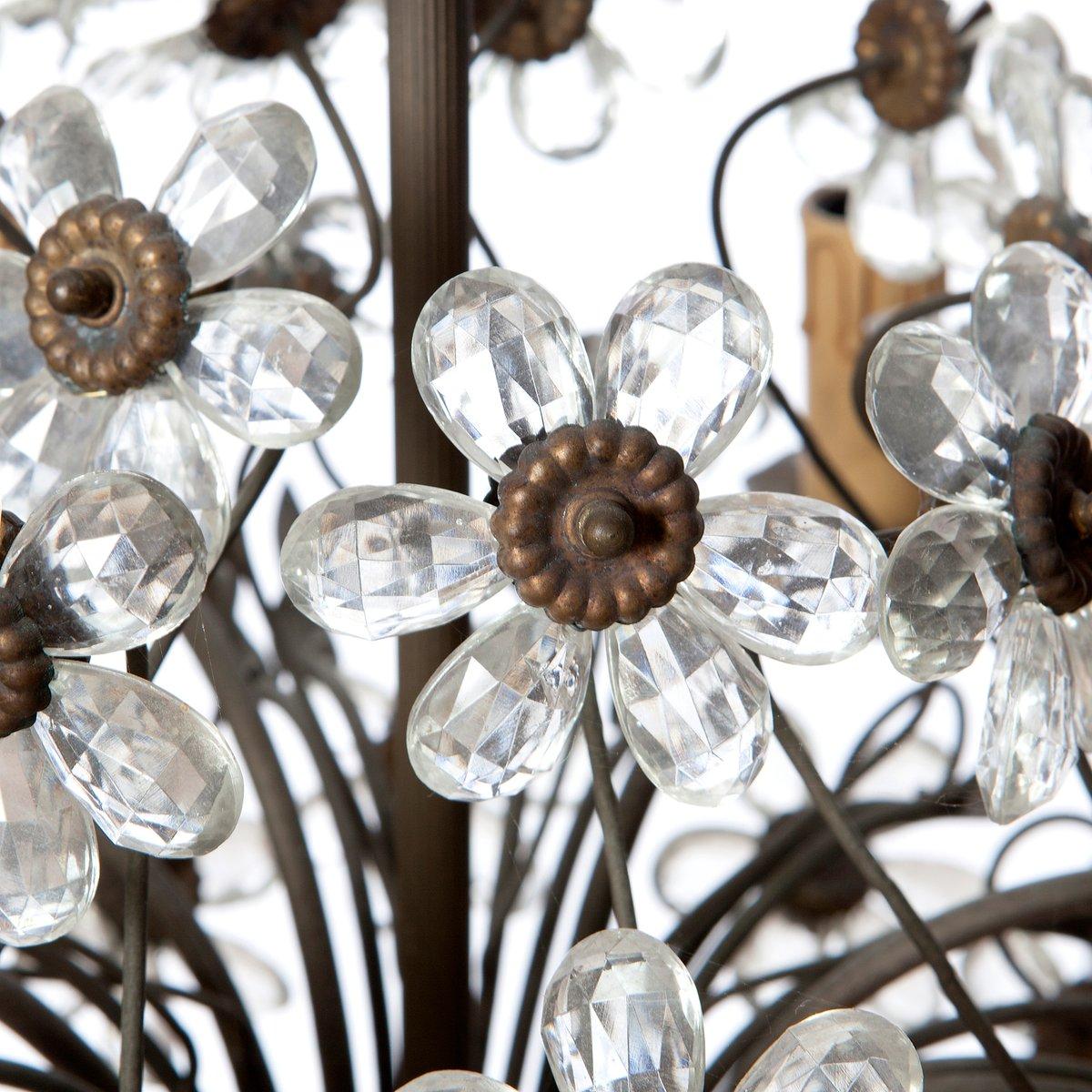 Vintage Six Light Bronze Crystal Flower Chandelier From Maison Baguès 5 3 100 00